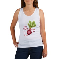 Hey GMOs Beet It Women's Tank Top
