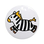 Zebra Cartoon Ornament