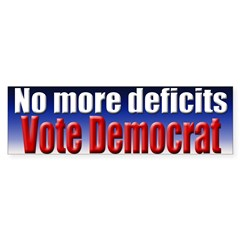No More Deficits Bumper Sticker