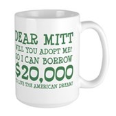 Mitt Will You Adopt Me? Large Mug