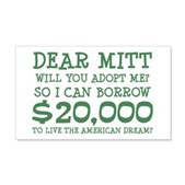 Mitt Will You Adopt Me? 22x14 Wall Peel