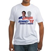 Anti-Romney Shadow Fitted T-Shirt