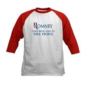Anti-Romney: Fire People Kids Baseball Jersey