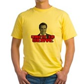 Anti-Romney: Unfit To Serve Yellow T-Shirt