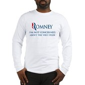 Anti-Romney: Very Poor Long Sleeve T-Shirt