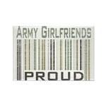 Military Army Girlfriends Proud Rectangle Magnet