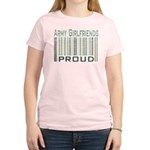 Military Army Girlfriends Proud Women's Light T-Sh