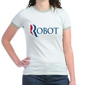 Anti-Romney ROBOT Jr. Ringer T-Shirt
