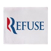 Anti-Romney Refuse Stadium Blanket
