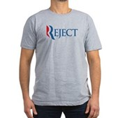 Anti-Romney Reject Men's Fitted T-Shirt (dark)