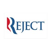Anti-Romney Reject 35x21 Wall Decal