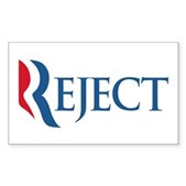 Anti-Romney Reject Sticker (Rectangle)