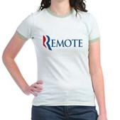Anti-Romney Remote Jr. Ringer T-Shirt