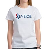 Anti-Romney Reverse Women's T-Shirt