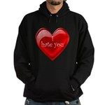 Red Jelly Heart - I hate you  Dark Hoodie (dark)