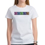 Soccer made of Elements Colors Women's T-Shirt