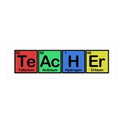 Teacher made of Elements colors 36x11 Wall Decal