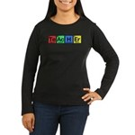 Teacher made of Elements colors Women's Long Sleeve Dark T-Shirt