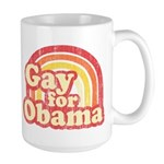 Gay for Obama Large Mug