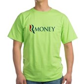 Anti-Romney RMONEY Green T-Shirt