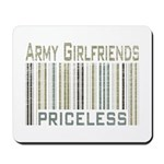 Army Girlfriends Priceless Barcode Mousepad