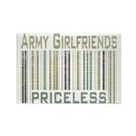 Army Girlfriends Priceless Barcode Rectangle Magne