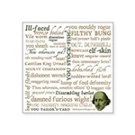Shakespeare Insults T-shirts & Gifts Square Sticker 3