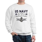 My Nephew is defending - Navy Sweatshirt