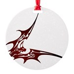 Vampire Bat 1 Round Ornament