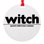 Generic witch Costume Round Ornament