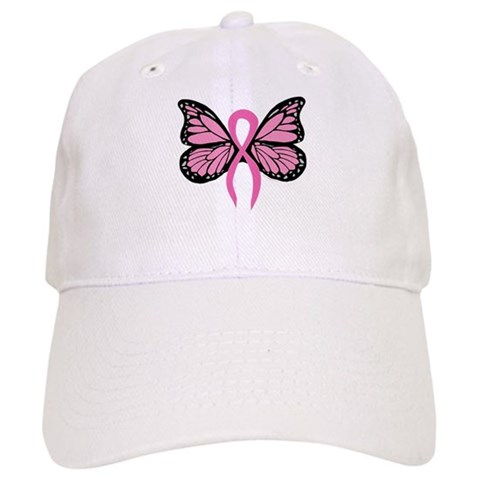 Breast Cancer Butterfly Cap