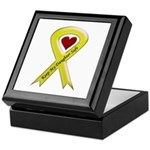 Keep My Daughter Safe Yellow Ribbon Keepsake Box
