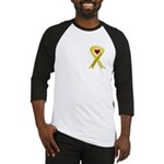 Keep My Daughter Safe Yellow Ribbon Baseball Jerse