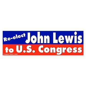 Re-Elect John Lewis to Congress, a strong progressive with a strong agenda for Georgia and the nation (congressional bumper sticker for John Lewis)