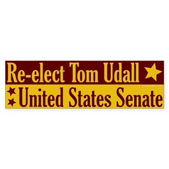 Re-Elect Tom Udall to the U.S. Senate Progressive New Mexico Bumpersticker