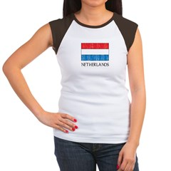 Netherlands Flag Women's Cap Sleeve T-Shirt
