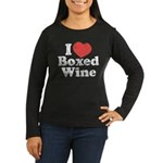 I Heart Boxed Wine Women's Long Sleeve Dark T-Shir