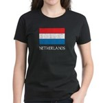 Netherlands Flag Women's Dark T-Shirt