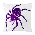Purple Spider Woven Throw Pillow