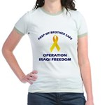 Keep My Brother Safe OIF Jr. Ringer T-Shirt