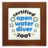 Open Water Diver 2007 Framed Tile