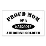Proud Mom Airborne Soldier Sticker (Rectangular)