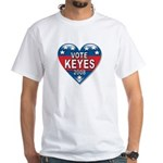 Vote Alan Keyes 2008 Political White T-Shirt