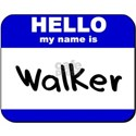hello my name is walker White T-Shirt
