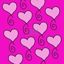curly heart pinks T-Shirt