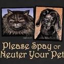 Woodblock - Spay/Neuter Pet