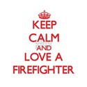 Keep Calm and Love a Firefighter T-Shirt