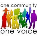 One Community One Voice White T-Shirt