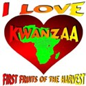 I Love Kwanzaa First Fruits of the H White T-Shirt