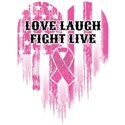 Love Laugh Fight Live White T-Shirt